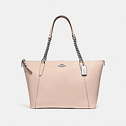 COACH F29007 - AVA CHAIN TOTE SILVER/LIGHT PINK