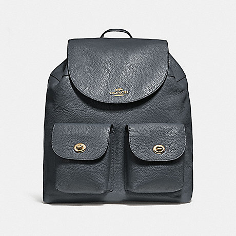 COACH f29008 BILLIE BACKPACK MIDNIGHT/IMITATION GOLD