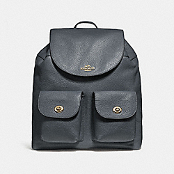 COACH BILLIE BACKPACK - MIDNIGHT/LIGHT GOLD - F29008