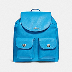 COACH F29008 Billie Backpack BRIGHT BLUE/SILVER