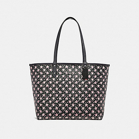 COACH f29017 REVERSIBLE CITY TOTE WITH STAR PRINT MIDNIGHT MULTI/SILVER