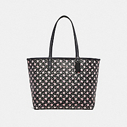 REVERSIBLE CITY TOTE WITH STAR PRINT - f29017 - MIDNIGHT MULTI/SILVER