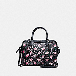 MICRO BENNETT SATCHEL WITH STAR PRINT - f29019 - MIDNIGHT MULTI/SILVER