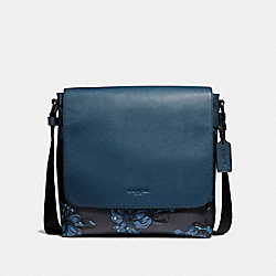 CHARLES MESSENGER WITH HAWAIIAN LILY PRINT - f29026 - QBNI9