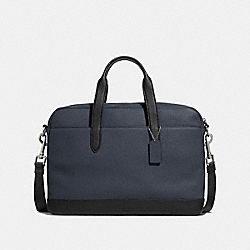 HAMILTON BAG IN COLORBLOCK - f29034 - NICKEL/MIDNIGHT NAVY/BLACK
