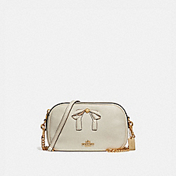 ISLA CHAIN CROSSBODY WITH BOW - f29037 - CHALK/IMITATION GOLD