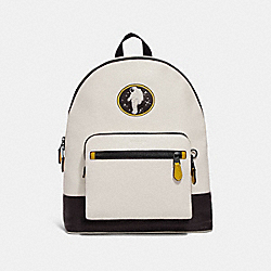 COACH F29043 West Backpack With Rocket Motif CHALK/BLACK ANTIQUE NICKEL