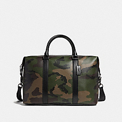 VOYAGER BAG WITH CAMO PRINT - f29049 - DARK GREEN MULTI/BLACK ANTIQUE NICKEL