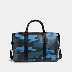 VOYAGER BAG WITH CAMO PRINT - f29049 - DUSK MULTI/BLACK ANTIQUE NICKEL
