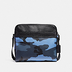 CHARLES CAMERA BAG WITH CAMO PRINT - f29052 - DUSK MULTI/BLACK ANTIQUE NICKEL