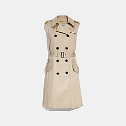 DRAPEY TRENCH VEST - f29059 - LINEN