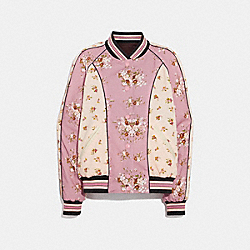 REVERSIBLE FLORAL SOUVENIR JACKET - f29060 - BORDEAUX/MULTICOLOR