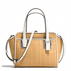 COACH F29061 Taylor Straw Mini Tote Crossbody