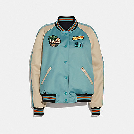 COACH f29073 SCENIC REVERSIBLE SOUVENIR JACKET SURF