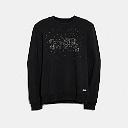 COACH F29079 - HORSE AND CARRIAGE CONSTELLATION SWEATSHIRT BLACK