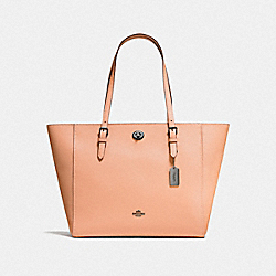 COACH F29086 - TURNLOCK TOTE DARK BLUSH/DARK GUNMETAL