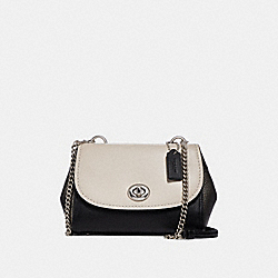 FAYE CROSSBODY IN COLORBLOCK - f29117 - CHALK MULTI/SILVER