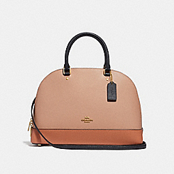 COACH F29118 Sierra Satchel In Colorblock SUNRISE MULTI/LIGHT GOLD