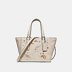 COACH F29120 Crosby Carryall 21 With Space Motif SILVER/CHALK