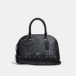 COACH F29132 - MINI SIERRA SATCHEL WITH CELESTIAL PRINT BLACK/SILVER