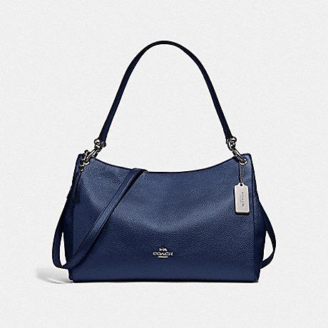 COACH F29137 MIA SHOULDER BAG SV/METALLIC-BLUE