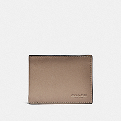 COACH F29138 Slim Billfold Wallet LIGHT KHAKI