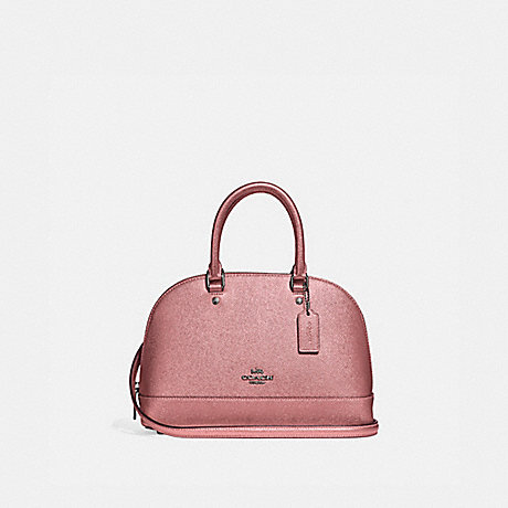 COACH F29170 MINI SIERRA SATCHEL QB/METALLIC-DARK-BLUSH