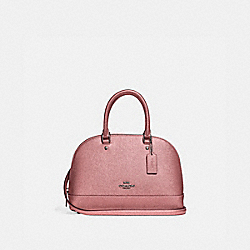 COACH F29170 - MINI SIERRA SATCHEL QB/METALLIC DARK BLUSH