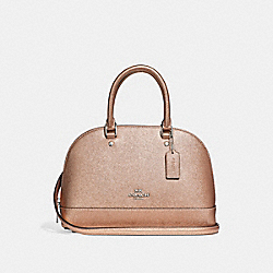 COACH F29170 Mini Sierra Satchel ROSE GOLD/SILVER