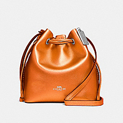 DERBY CROSSBODY - f29204 - METALLIC TANGERINE/SILVER