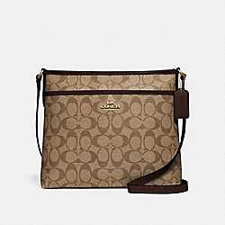 COACH F29210 - FILE CROSSBODY IN SIGNATURE CANVAS KHAKI/OXBLOOD MULTI/LIGHT GOLD