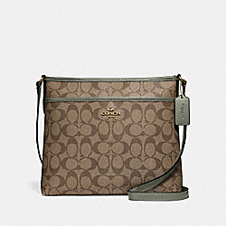 COACH F29210 File Crossbody In Signature Canvas IM/KHAKI/MILITARY GREEN