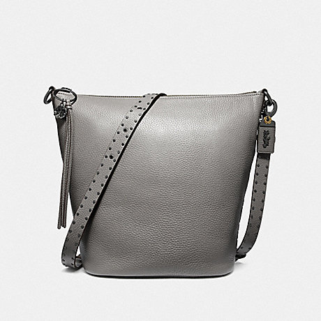 COACH F29239 DUFFLE WITH RIVETS BP/HEATHER GREY