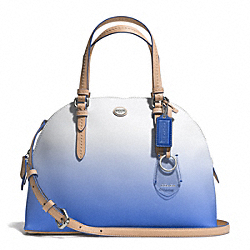COACH F29282 Peyton Ombre Cora Domed Satchel SILVER/PORCELAIN BLUE