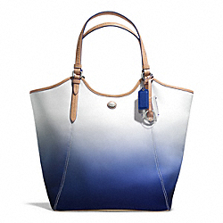COACH F29283 Peyton Ombre Tote SILVER/PORCELAIN BLUE