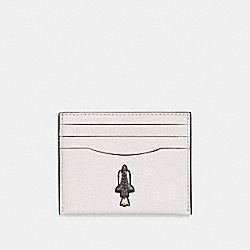 COACH F29296 Slim Card Case With Rocket Motif CHALK
