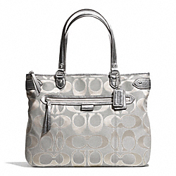 COACH F29302 - DAISY OUTLINE SIGNATURE TOTE SILVER/DOVE
