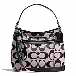 COACH F29303 - DAISY OUTLINE SIGNATURE COVERTIBLE HOBO ONE-COLOR