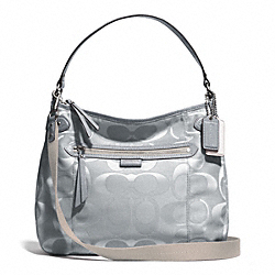 COACH F29308 Daisy Multi Signature Convertible Hobo SILVER/GRAY/GRAY