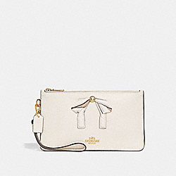 CROSBY CLUTCH WITH BOW - f29317 - CHALK/IMITATION GOLD