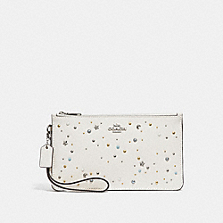 COACH F29324 - CROSBY CLUTCH WITH CELESTIAL STUDS SILVER/CHALK