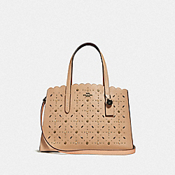 COACH F29325 Charlie Carryall With Prairie Rivets BEECHWOOD/DARK GUNMETAL