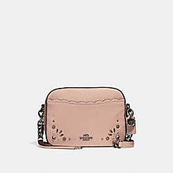 COACH F29333 Camera Bag With Prairie Rivet Details DARK BLUSH/DARK GUNMETAL
