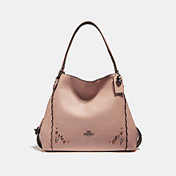 COACH F29336 - EDIE SHOULDER BAG 31 WITH PRAIRIE RIVETS DETAIL DK/DARK BLUSH