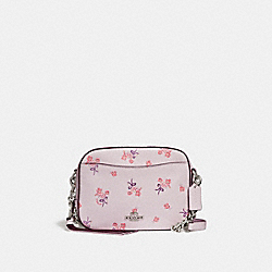 COACH F29347 - CAMERA BAG WITH FLORAL BOW PRINT ICE PINK/SILVER