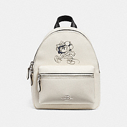 COACH F29353 - MINI CHARLE BACKPACK WITH MINNIE MOUSE MOTIF SILVER/CHALK