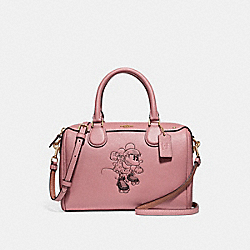 MINI BENNETT SATCHEL WITH MINNIE MOUSE MOTIF - f29356 - Vintage Pink/LIGHT GOLD