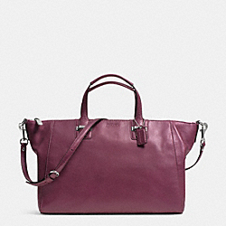 COACH F29364 - TAYLOR ELISE LEATHER ZIP SATCHEL  SILVER/PLUM