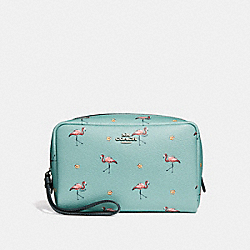 COACH F29374 - BOXY COSMETIC CASE 20 WITH FLAMINGO PRINT SVNGV