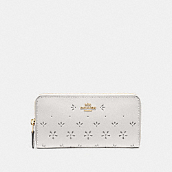 COACH F29383 Accordion Zip Wallet CHALK/IMITATION GOLD